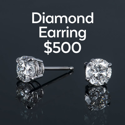 photo of two diamond earrings